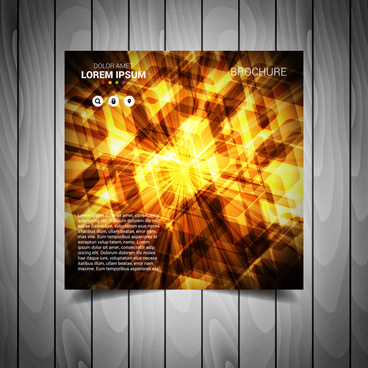 abstract light business flyer template
