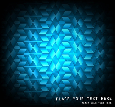 abstract light mosaic vector shiny blue background illustration
