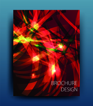 abstract light rays cover design vector
