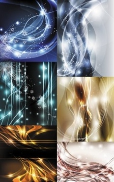 abstract lines with light dynamic background vector