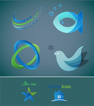 abstract logo symbol design element