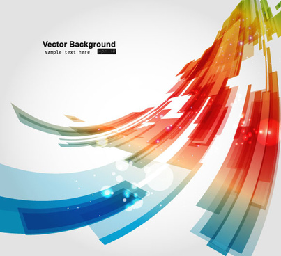 abstract luminous dynamic background free vector