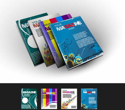 abstract magazine cover design elements vector