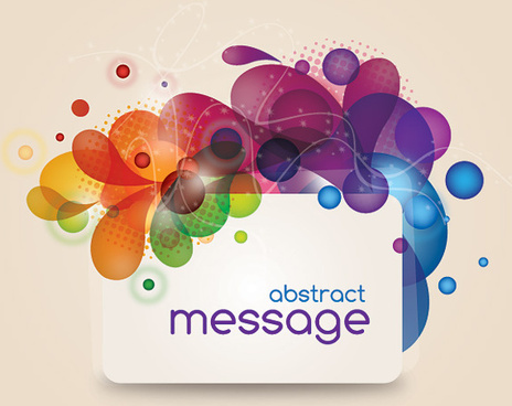 abstract message vector graphic