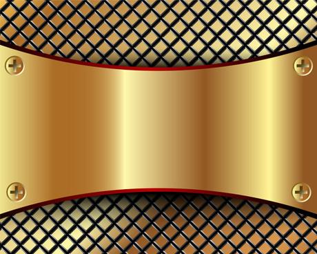 abstract metallic golden background vector