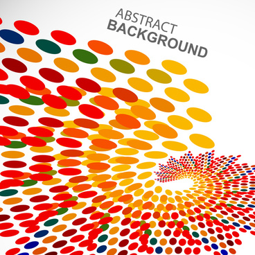 abstract multicolor circle colorful dotted swirl wave background