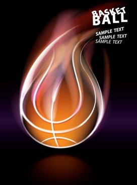 abstract of ball with flame design vector
