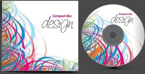 abstract of cd cover vector set