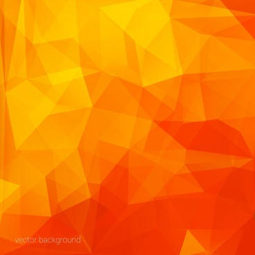 abstract orange background polygonal style ornament