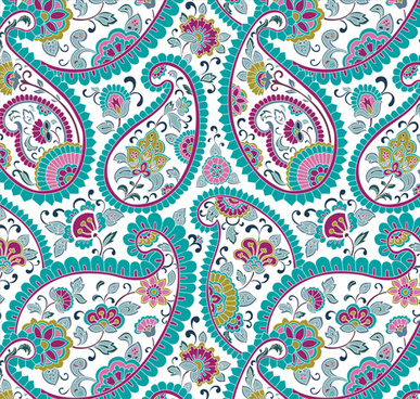 abstract ornate floral pattern vector art