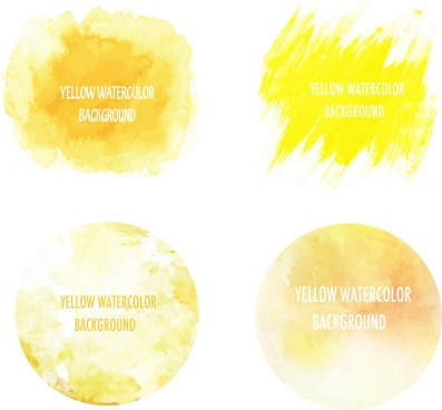 abstract painting design elements yellow grunge decor