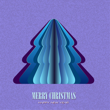 abstract paper layer christmas tree