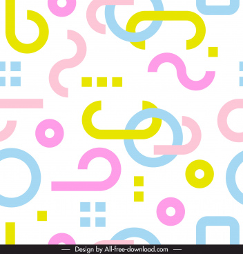 abstract pattern colorful bright flat shapes