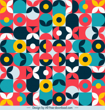 abstract pattern colorful flat illusion geometric decor