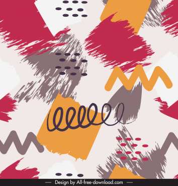 abstract pattern colorful grunge dynamic messy decor