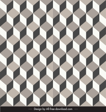abstract pattern delusive design 3d repeating symmetric shapes