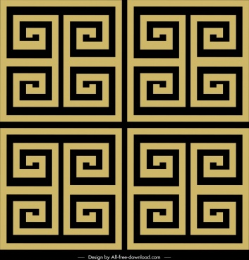 abstract pattern flat classical symmetric maze decor