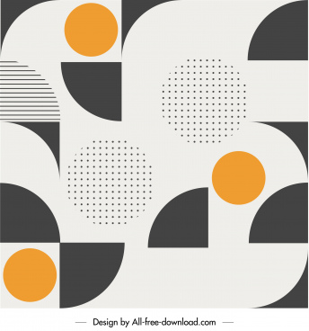 abstract pattern flat contrast geometric decor