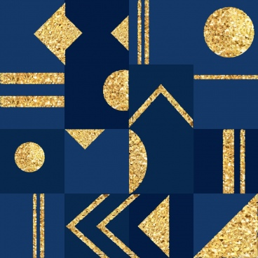 abstract pattern flat shiny golden geometric design