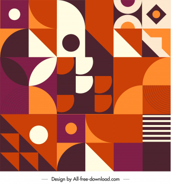 abstract pattern template colorful flat geometric decor