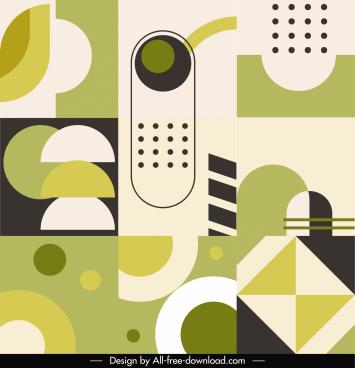 abstract pattern template flat classic geometric decor