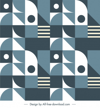 abstract pattern template flat geometric repeating decor