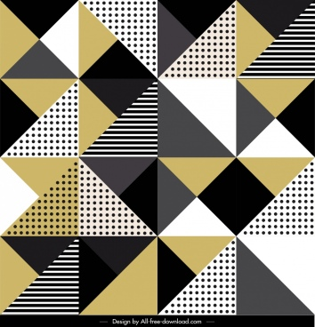 abstract pattern template flat geometrical triangles decor