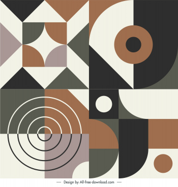 abstract pattern template flat illusion geometric shapes
