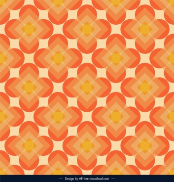 abstract pattern template orange symmetrical circles polygon decor