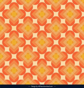 abstract pattern template orange symmetrical circles polygon decor