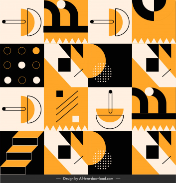 abstract pattern template squares isolation flat geometric shapes