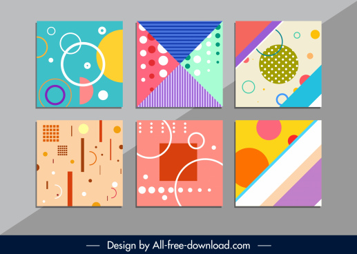abstract pattern templates colorful flat geometric design