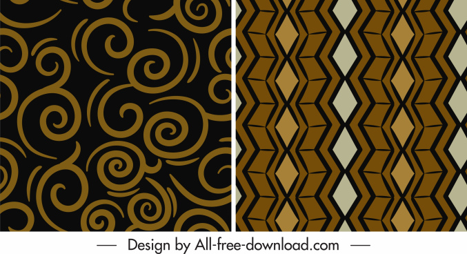 abstract pattern templates retro flat shapes decor