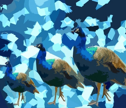 abstract peacock background