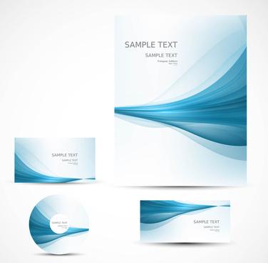 abstract professional brochure wave design presentation vector