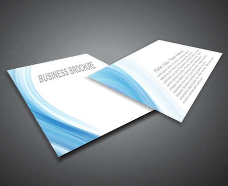 abstract professional business brochure blue wave design vector