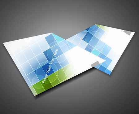 abstract professional mosaic business corporate brochure design vector