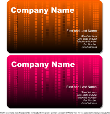 abstract rain business cards