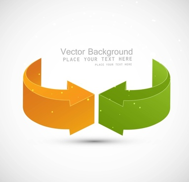 abstract recycle colorful arrows business vector whit background vector