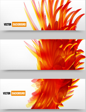abstract red elements banners vector