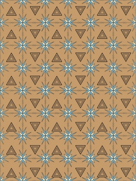 abstract repeating pattern triangles decoration design