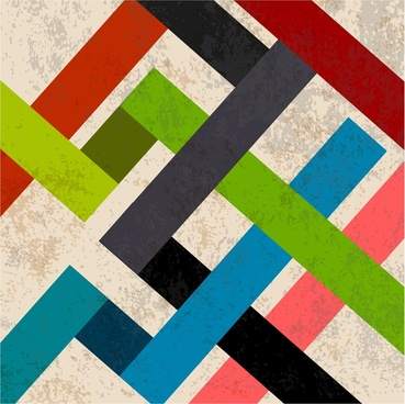 abstract retro background colorful lines connection design