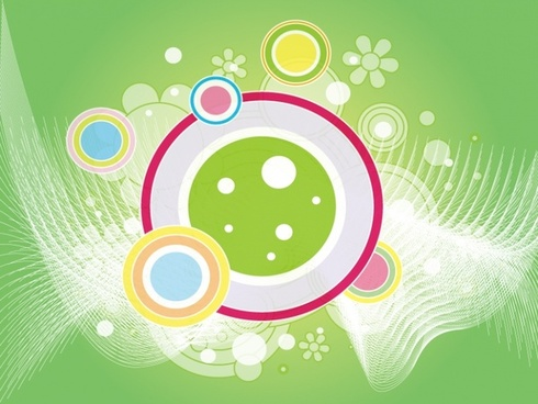 abstract background design multicolored circles flowers decoration