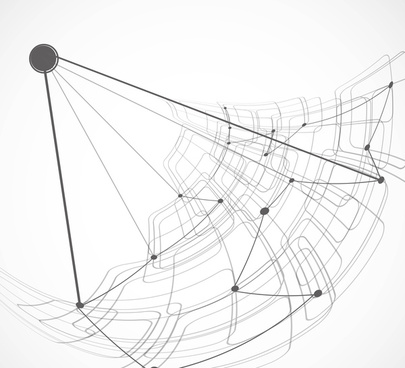 abstract satellite technology vector design