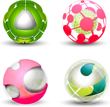 abstract shape sphere design