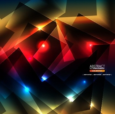 abstract shapes bright background vector