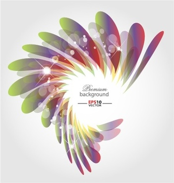abstract shapes shiny background vector