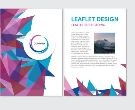 abstract sharp background leaflet vector design