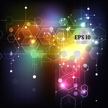 abstract shiny elements vector background art