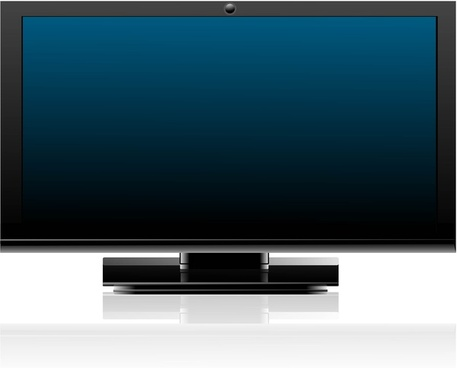 abstract shiny flat tv screen realistic reflection vector whit background